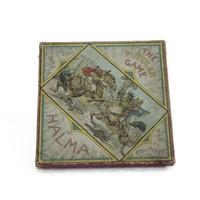 Image: cardboard box showing drawing of two men sword fighting on horseback