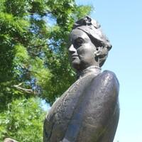 Bronze sculpture, Catherine Helen Spence by Ieva Porcius, 1986