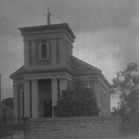 Image: stone building with steeple