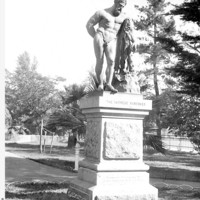 Image: statue of an unclothed man