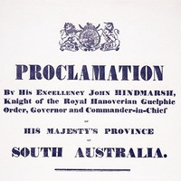 Image: Printed document headed 'Proclamation'