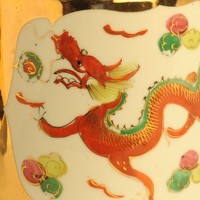 Image: red painted dragon