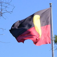 Aboriginal Flag, Victoria Square, 2007