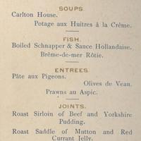 Image: page listing menu items
