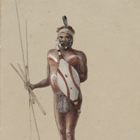 A warrior of the Adelaide Tribe