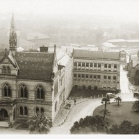 Image: Adelaide University Buildings and surrounds, seen from an elevated position on a misty wintry day