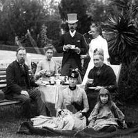 Todd family tea party, c1883