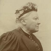 Image: Side profile portrait of a woman