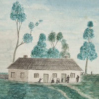 The schoolroom of the Aborigines