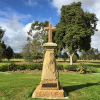 Image: Stone cross on tall stone pillar