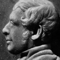 Image: Sculpted profile of a man's face