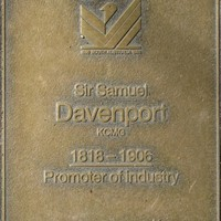 Jubilee 150 walkway plaque of Sir Samuel Davenport