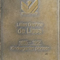 Jubilee 150 walkway plaque of Lillian Daphne de Lissa