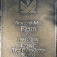 Jubilee 150 walkway plaque of John Flynn