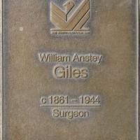 Jubilee 150 walkway plaque of William Antsey Giles