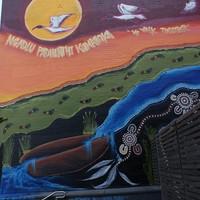 Image: Narisha Cash's Ngadlu Padninthi Kamanka mural (2017)