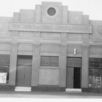 Image: Photograph showing the original First Church of Christ Scientist in Adelaide with its double entrance doors and its Art Deco style architecture