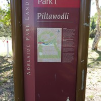 Image: Sign showing map of park and explanatory text