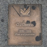 Image: CJ Dennis Plaque