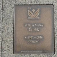 Image: William Anstey Giles Plaque