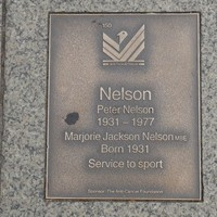 Image: Peter and Marjorie Jackson Nelson Plaque
