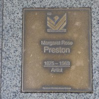 Image: Margaret Rose Preston Plaque