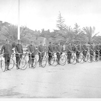 Image: Foot Police with bicycles at Torrens Parade Ground