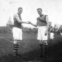 Image: Australian Rules Football players shaking hands