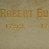 Robert Burns statue detail