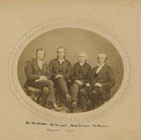 Image: Group portrait of four Uniting Presbyterian ministers. They are seated on chairs.