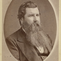 Image: Portrait photograph of Rev. John Davidson. He has a long beard.