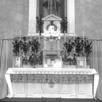 Image: a church altar