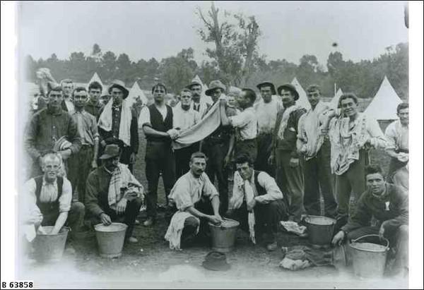 Boer War troops in camp, Adelaide, c.1900