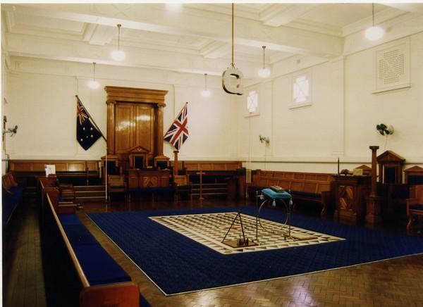 Image: room set up for ceremony