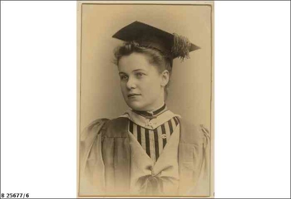 Stella Howchin, B.Sc., a graduate, and former student of the Advanced School for Girls, c. 1888.