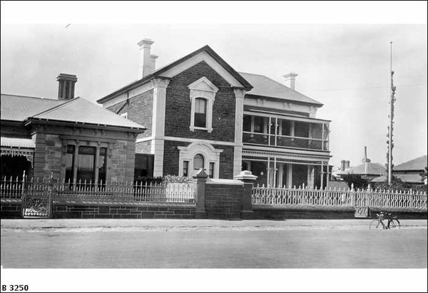 Two-storey blue stone house, South Terrace, 1926