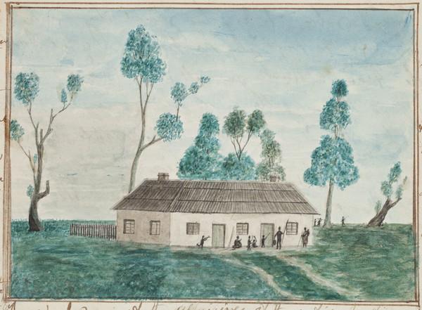 The schoolroom of the Aborigines