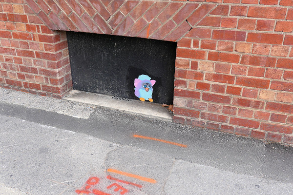 Image: Furby paste-up