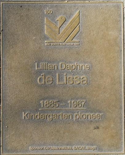 Jubilee 150 walkway plaque of Lillian Daphne de Lissa