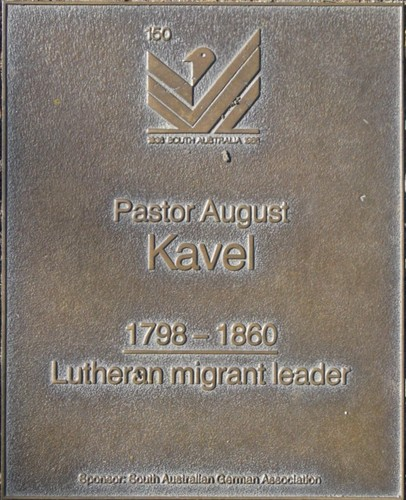 Jubilee 150 walkway plaque of August Kavel