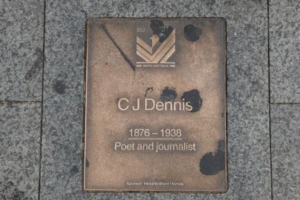 Image: CJ Dennis Plaque