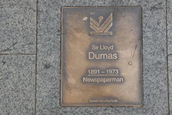 Image: Sir Lloyd Dumas Plaque