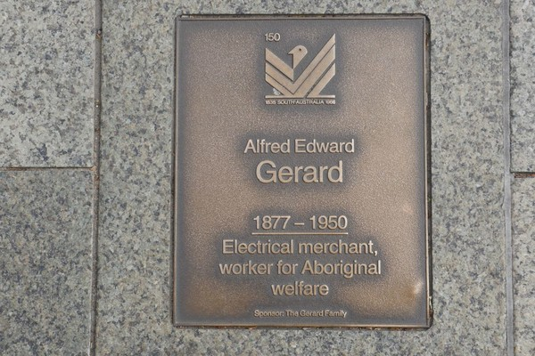 Image: Alfred Edward Gerard Plaque