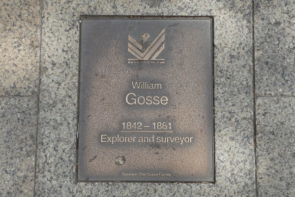 Image: William Gosse Plaque