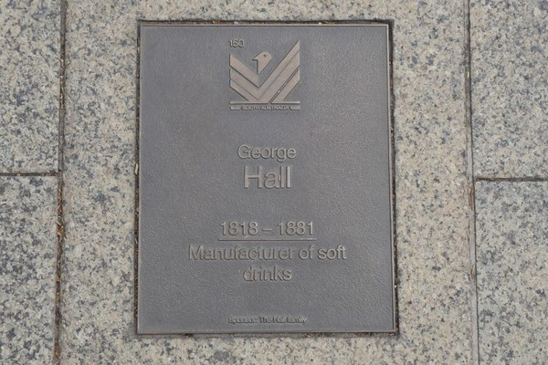 Image: George Hall Plaque