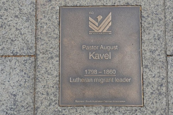 Image: Pastor August Kavel Plaque