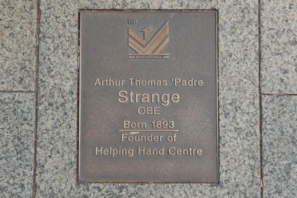 Image: Arthur Thomas Padre Strange Plaque