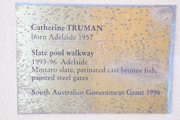 Image: Wall plaque for Fish for the Slate Pool Walkway