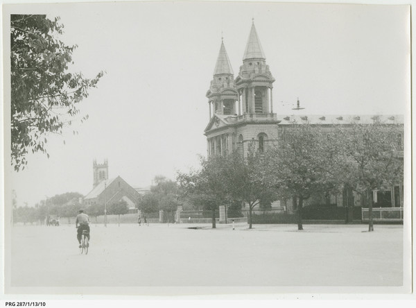 Image: street view of a church.