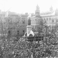Unveiling of King Edward VII Statue on North Terrace, 15 July 1920